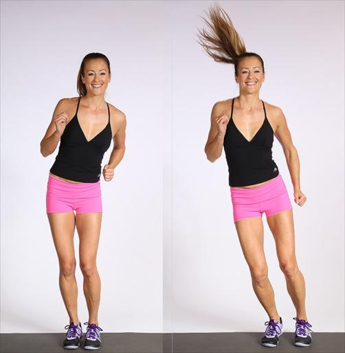 Tập Aerobic giảm mỡ bụng hiệu quả với động tác nhảy sang hai bên