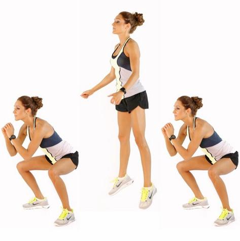 Bài tập Aerobic giảm mỡ bụng nhảy bật cao kết hợp squat