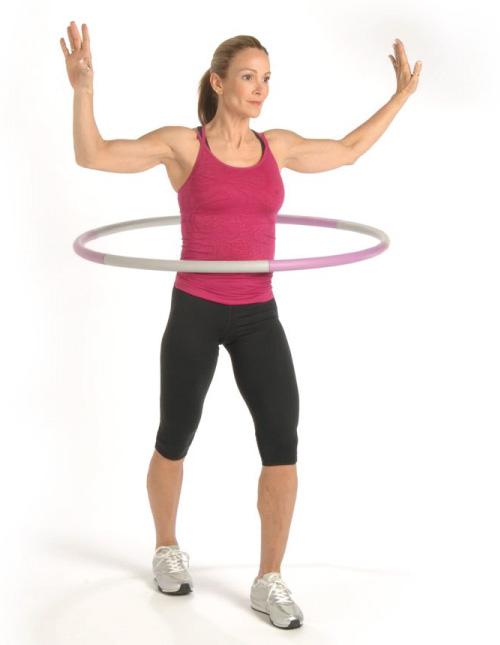 Lắc vòng giảm mỡ bụng - Đứng tấn trước sau