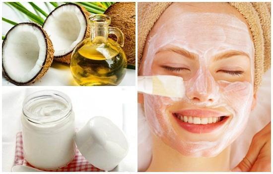 Massage mặt với dầu dừa và sữa chua giúp da trắng hồng